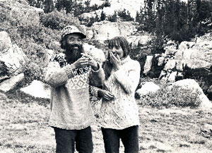 Gia-fu and Jane English, wedding in Yosemite 1971 (photography by Jane English)