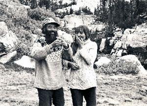 Gia-fu and Jane English, wedding in Yosemite 1971 (photography by Jane English)